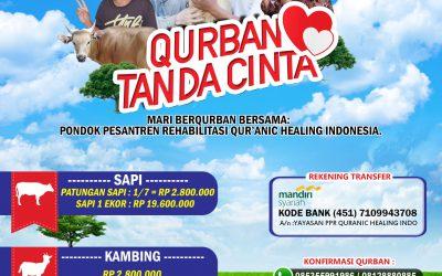 Mari Berqurban Bersama Pondok pesantren rehabilitasi Qur'anic healing indonesia